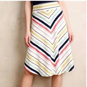 Anthropologie Maeve chevron striped skirt
